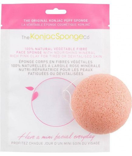 Eponge Konjac à l'Argile Rose - THE KONJAC SPONGE CO