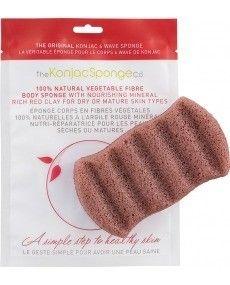 Eponge Konjac à l'Argile Rouge pour peaux sèches - The Konjac Sponge Co