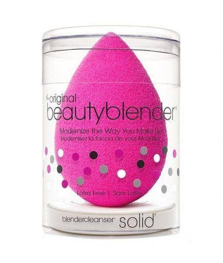 Комплект губка макияж лица Оригинал + Очиститель твердых Blender Cleanser - Beauty Blender