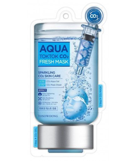 Masque Tissus Pétillant - Aqua Tok Tok CO2 - Tosowoong