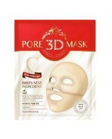 """Masque Tissus """" 3D Pore """" à Mémoire de Forme - Diminution des pores, Contrôle du sébum et Fermeté de la peau - TOSOWOONG"""