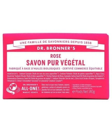 Pain de savon -Rose - Dr Bronner