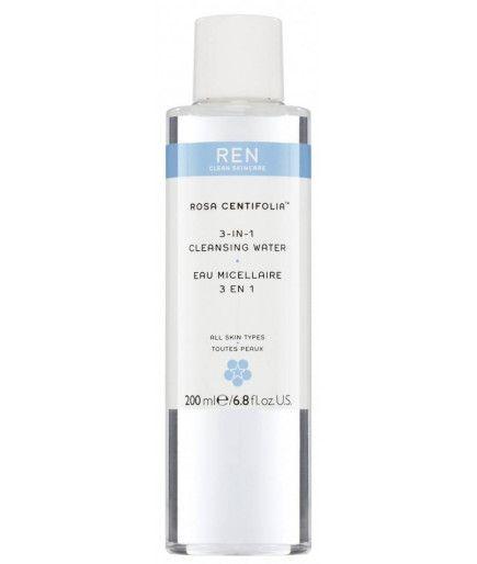Agua Micelar 3 en 1 - Rosa Centifolia™ - REN de Cuidado de la piel