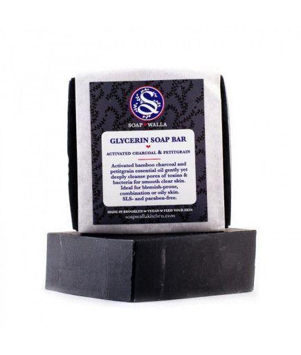 Glycerin Soap Bar - Savon au charbon et Petitgrain - SoapWalla Kitchen