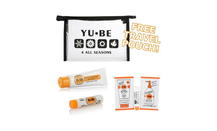 Trousse Voyage - 1 crème hydratante en tube + un baume à lèvres - YuBe