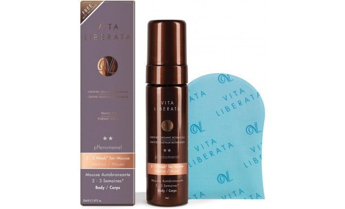 Kit Beauty To Go - Phenomenal Mousse - Medium - Autobronzant tenue 2-3 semaines 50 ml + Gant Applicateur - Vita Liberata