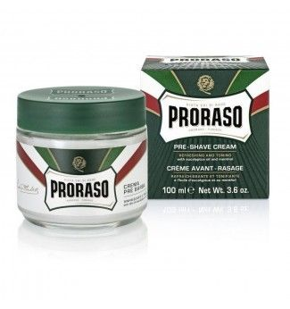 Crème avant rasage gamme verte - 100 ml - Proraso
