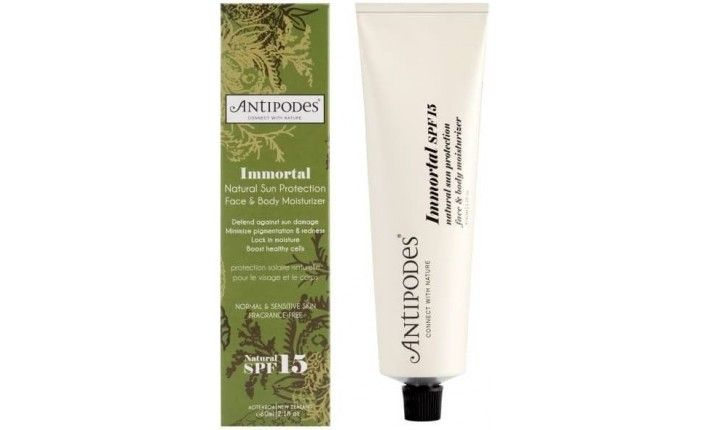 Crème solaire visage et corps - Immortal Moisturizer SPF15 - 60ml - Antipodes