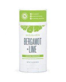 Déodorant Naturel en Pot - Bergamote et Citron Vert - Schmidt's