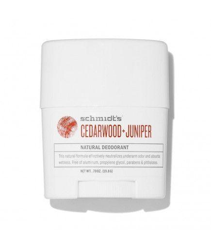 Desodorante natural pote - cedro y enebro - Schmidt