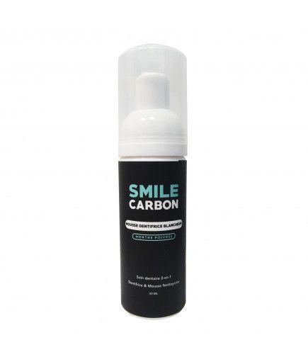 La espuma de la Pasta de dientes-Blancos - Menta - la SONRISA de Carbono