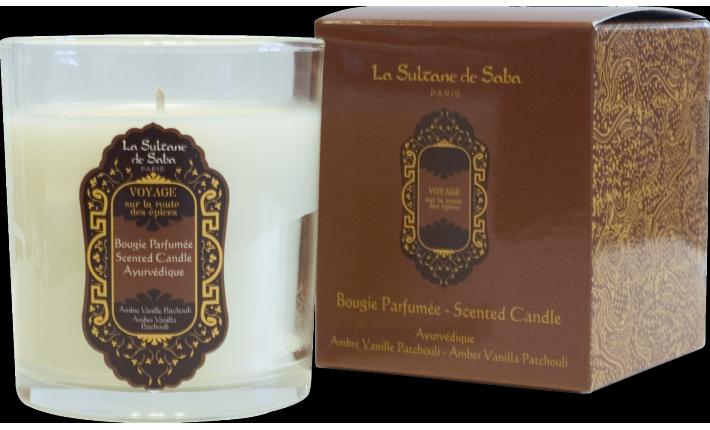 Bougie - Ayurvédique : Ambre, Vanille et Patchouli - La Sultane de Saba