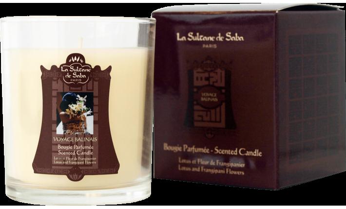 Bougie - Lotus et Fleur de Frangipanier - La Sultane de Saba