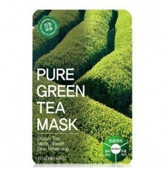 Masque en tissus - Pure Green Tea Mask - TOSOWOONG