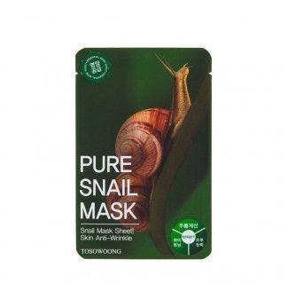 Masque en tissu - Pure Snail Mask - TOSOWOONG