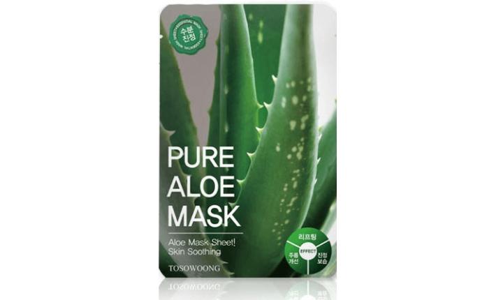 Masque en tissu - Pure Aloe Mask - TOSOWOONG