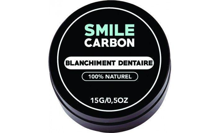Charbon Actif - Blanchisseur de dents naturel 15gr - SMILE Carbon