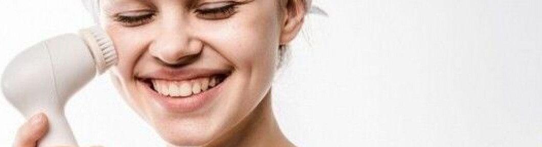 La cara del cepillo de limpieza